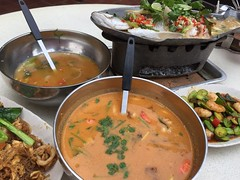 Tom yum seafood soup from Spicy Thai Cafe