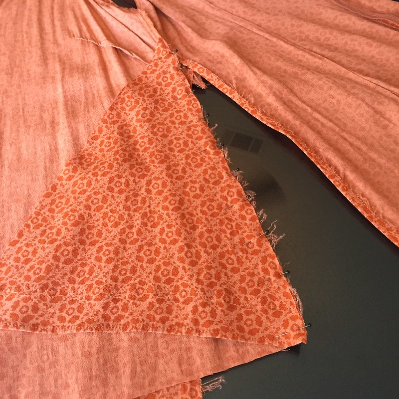 Orange Swing Top - In Progress