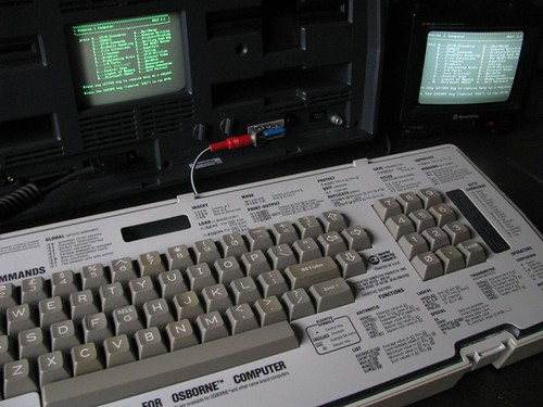 Osborne 1 Portable Computer (1981) using external monitor