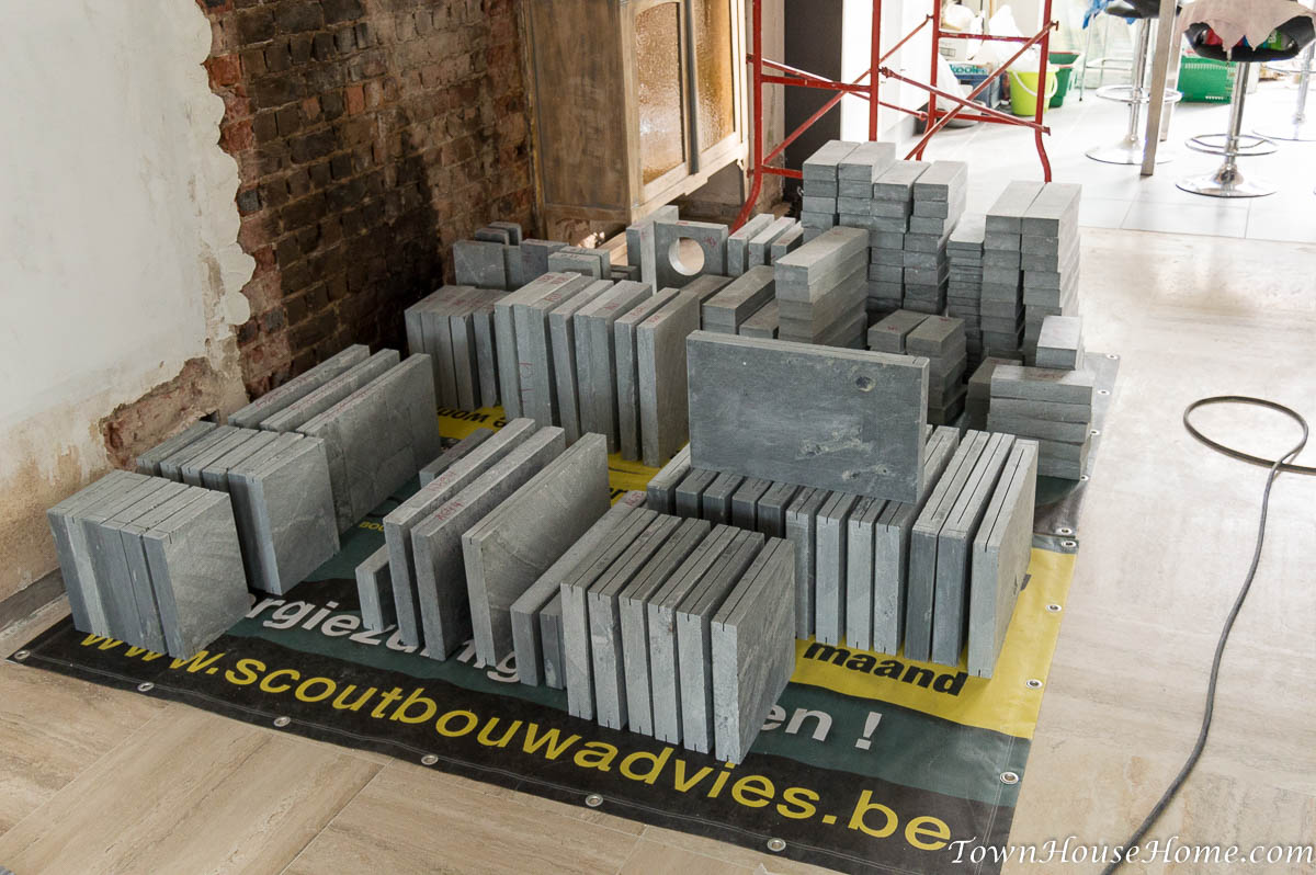 Soapstone fireplace stone delivery pt 1