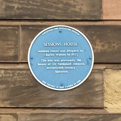 Photo of Charles Watson and Nathaniel Johnson blue plaque