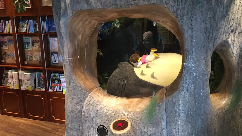 Totora is sleeping. Studio Ghibli Store at Tokyo Skytree shopping center.