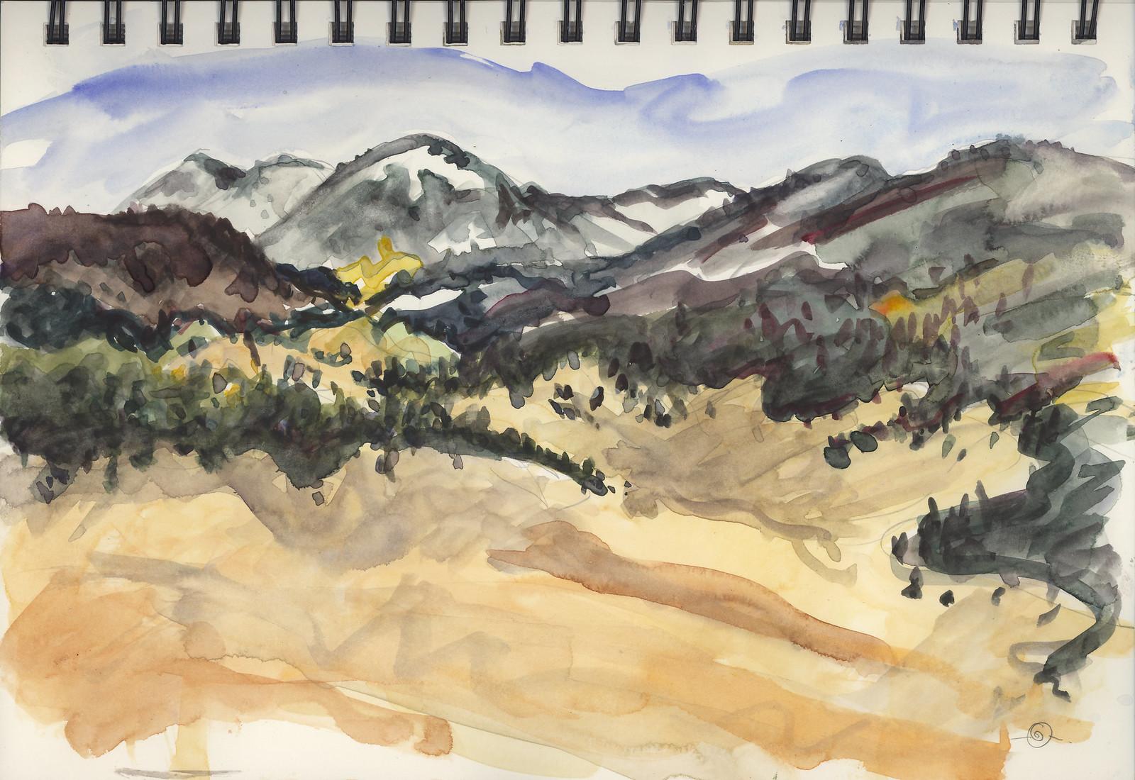 Valles Caldera rimmed by Jemez Mountains