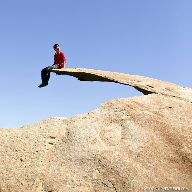 Stand on Potato Chip Rock on Mount Woodson (25 Free Things to Do in San Diego).