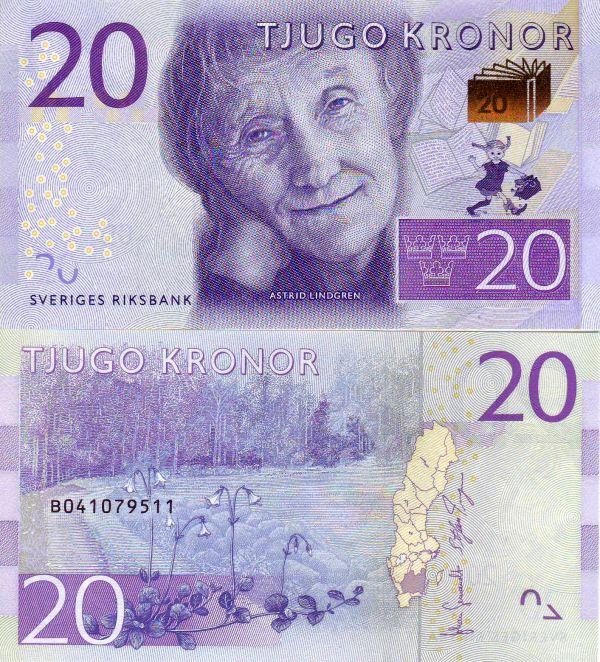 20 Korún Švédsko 2015