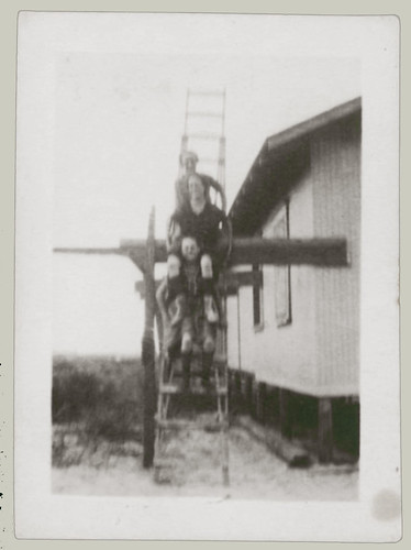Three on a ladder
