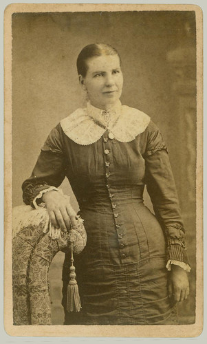 CDV Woman with Chair