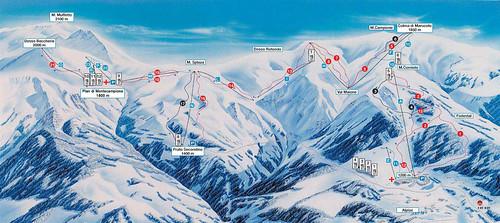 Montecampione - mapa sjezdovek