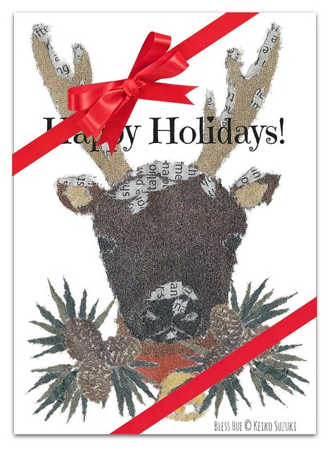Paper Art Collage - Happy Holidays