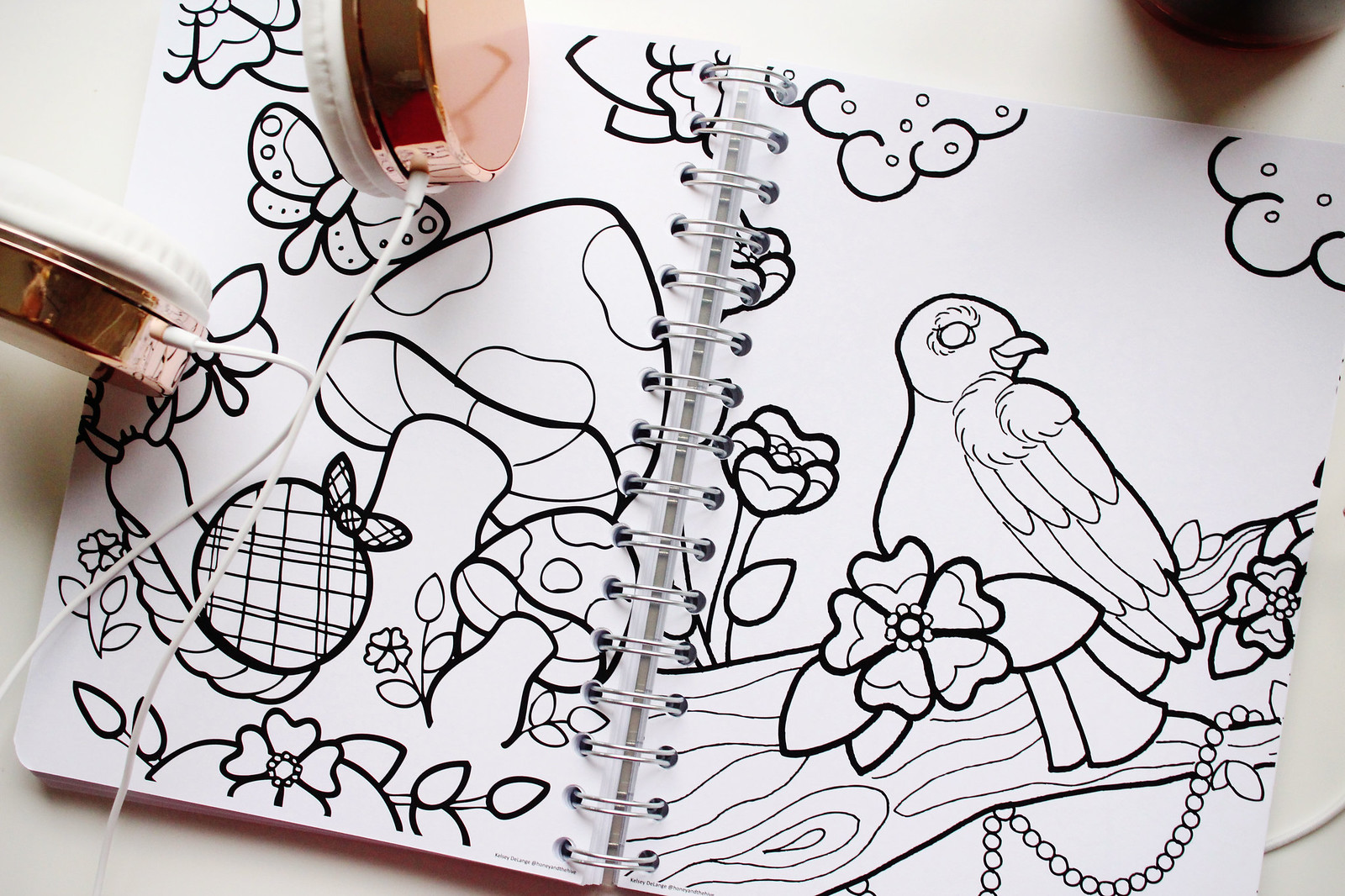 Coloring book in a planner