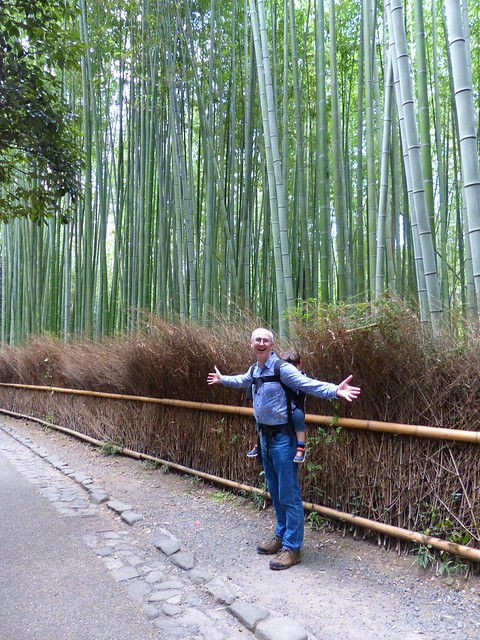Scott and E at the Arashiyama bamboo grove