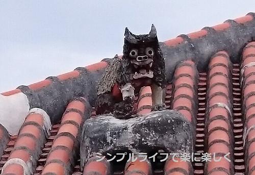 石垣島、竹富島・屋根の上のシーサー