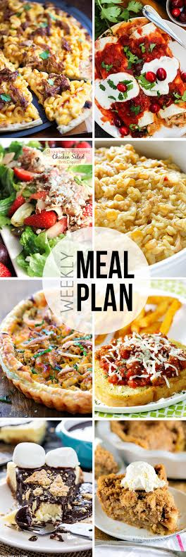 Week 22. Collaborative weekly meal planning. 9 bloggers. 6 dinner ideas, one weekend breakfast plus 2 desserts every single week equals one heck of a delicious menu!