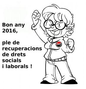 Bon any 2016 de recuperació de drets socials i laborals