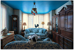 Salon bleu du Gite du Champayeur, à Warwick.
