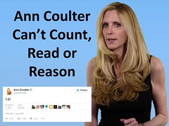 Ann Coulter Can't Count, Read or Reason