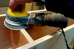 The Music Shelves: Sanding the Dado Joints Smooth