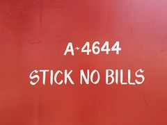 STICK NO BILLS