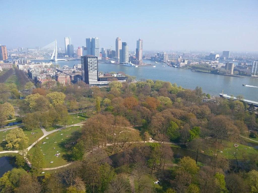 Rotterdam desde las alturas. #rotterdamcity #rotterdam #euromast