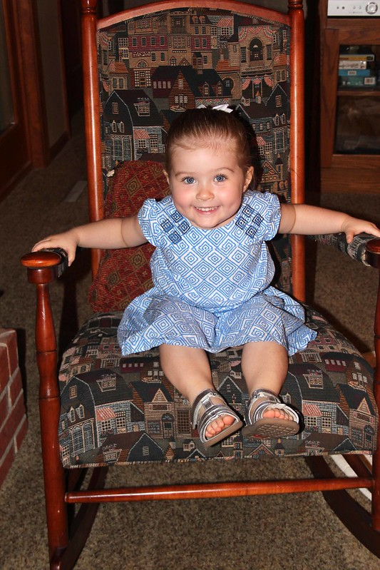 Sitting in Grandma's rocking chair