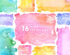 Watercolor Rectangles Clipart: 16 Digital files. Hand painted, brush strokes, splodge, pools, splotch, abstract watercolour, background by octopusartis