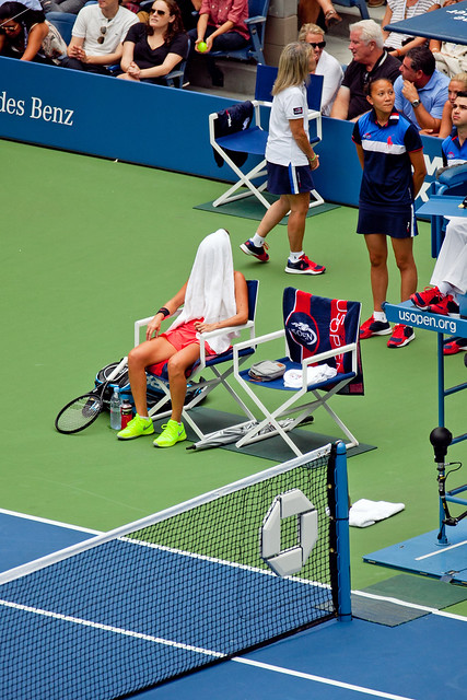 US Open Womens Finals Vinci rest concentration