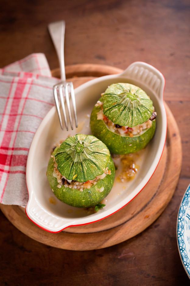 Zucchine Ripiene di Grano Saraceno e Scamorza