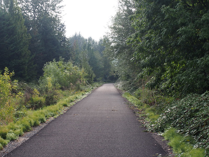 End of the Redmond Central Connector Trail: I ended up a bit lost in Redmond.