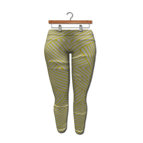{MYNX} Leggings - Yellow Stripes