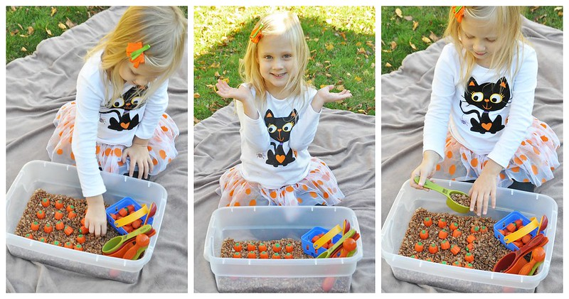 Edible Pumpkin Patch Sensory Play