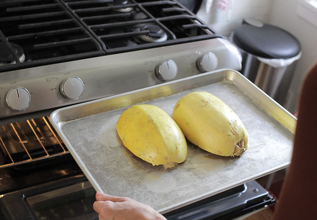 Adventures with spaghetti squash