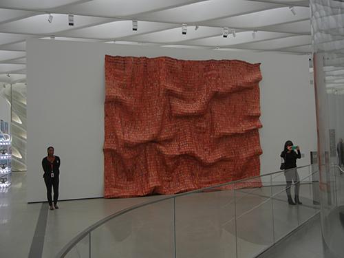 DSCN0337 _ Red Block, 2010, El Anatsui, Broad Museum, LA