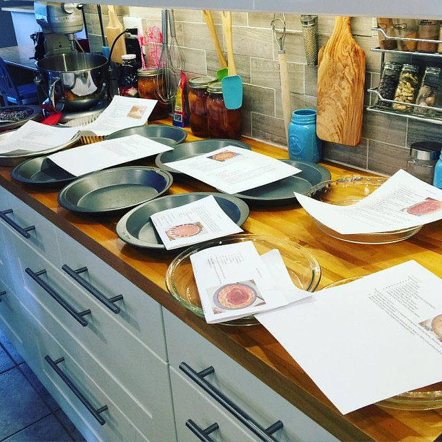Prep for the #festivalofpie has begun! I've matched all the recipes with the plates that will hold thst particular pie!