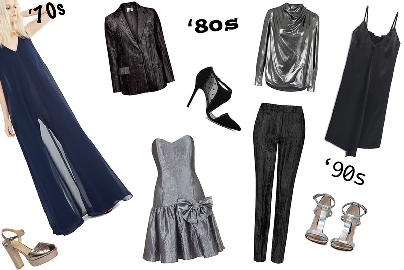 1970s, 1980s, 1990s, Jumpsuit, Flares, Chiffon, Power Suit, Velvet Suit, Taffeta, Prom Dress, Rara, Oversized Bow, Silver, Polka Dot, Mesh, Foil, Blouse, Slip Dress, Strappy, Spaghetti Straps, Holographic, Sandals, Lavish Alice, Topshop Unique, Topshop Archive, Reiss, French Connection, Mango