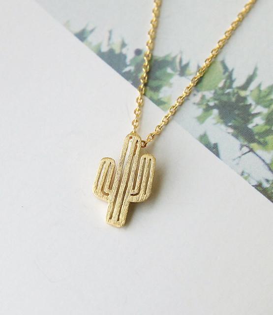 Cactus Saguaro Necklace