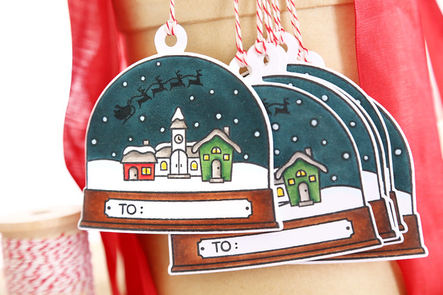 snowglobe gift tags {lawn fawny holiday week}
