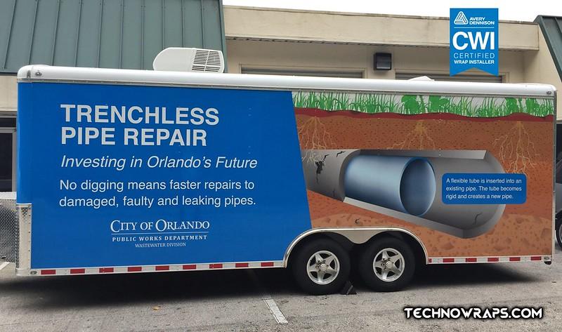 Trailer wrap graphics by TechnoSigns Orlando