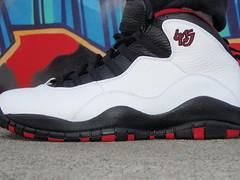 """Air Jordan 10 """"Double Nickel"""" (White/True Red-Black)"""