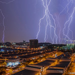 23. November 2015 - 17:42 - This is my first lightning photo, about two years since I move to my new home here in Shah Alam, Selangor. Better position from window of my room (compare from previous post). This shot are from 11 shot stack together.