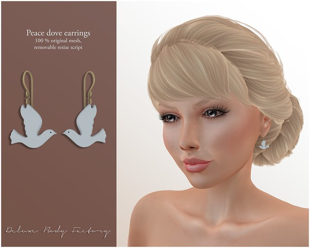 [DBF] Peace dove earrings AD