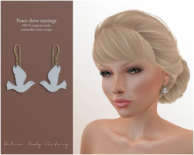 [DBF] Peace dove earrings AD