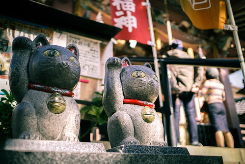 Shrine of Cat - Imato Jinja (今戸神社), in Asakusa (浅草) Tokyo (東京) Japan