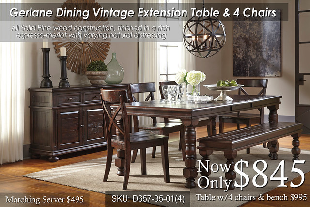 Gerlane Dining Table & chairs