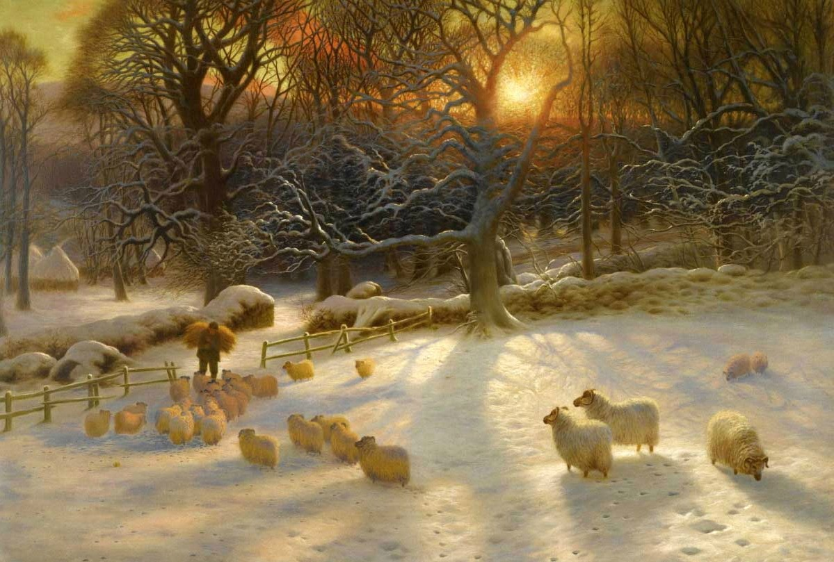 Beneath The Snow Encumbered Branches by Joseph Farquharson, 1903