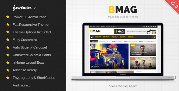 ThemeForest BMAG v2.0.2 - Magazine Responsive Blogger Template