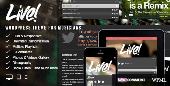 Live! v2.0.6.9 - Themeforest Music Wordpress Theme