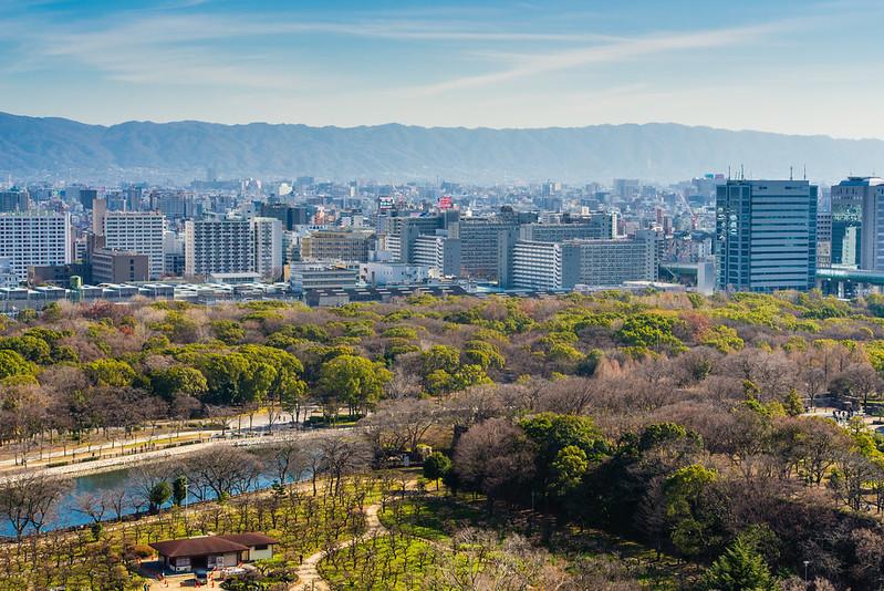大阪城風景 / View From Osaka Castle