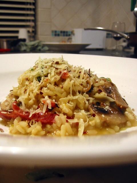 Saffron, Chorizo & Mushroom Risotto | There may or may not b ...