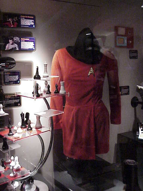 Uhura 39 S Miniskirted Costume And Spock 39 S Three Dimensional Chess Board From The Original 60s Star