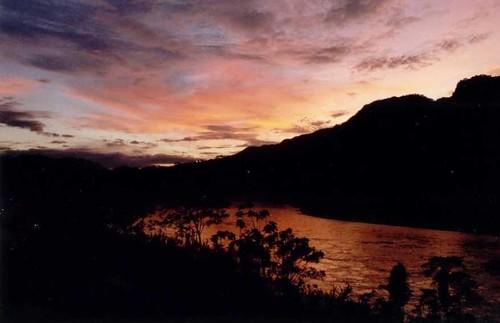 peru sunrise river dawn amazon jungle ucayali